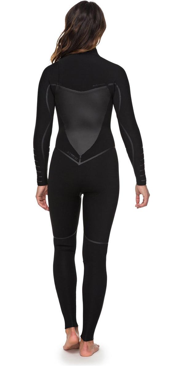68d77d0b57 2018 Roxy Womens Syncro+ 4 3mm Chest Zip Wetsuit Black ERJW103030 ...