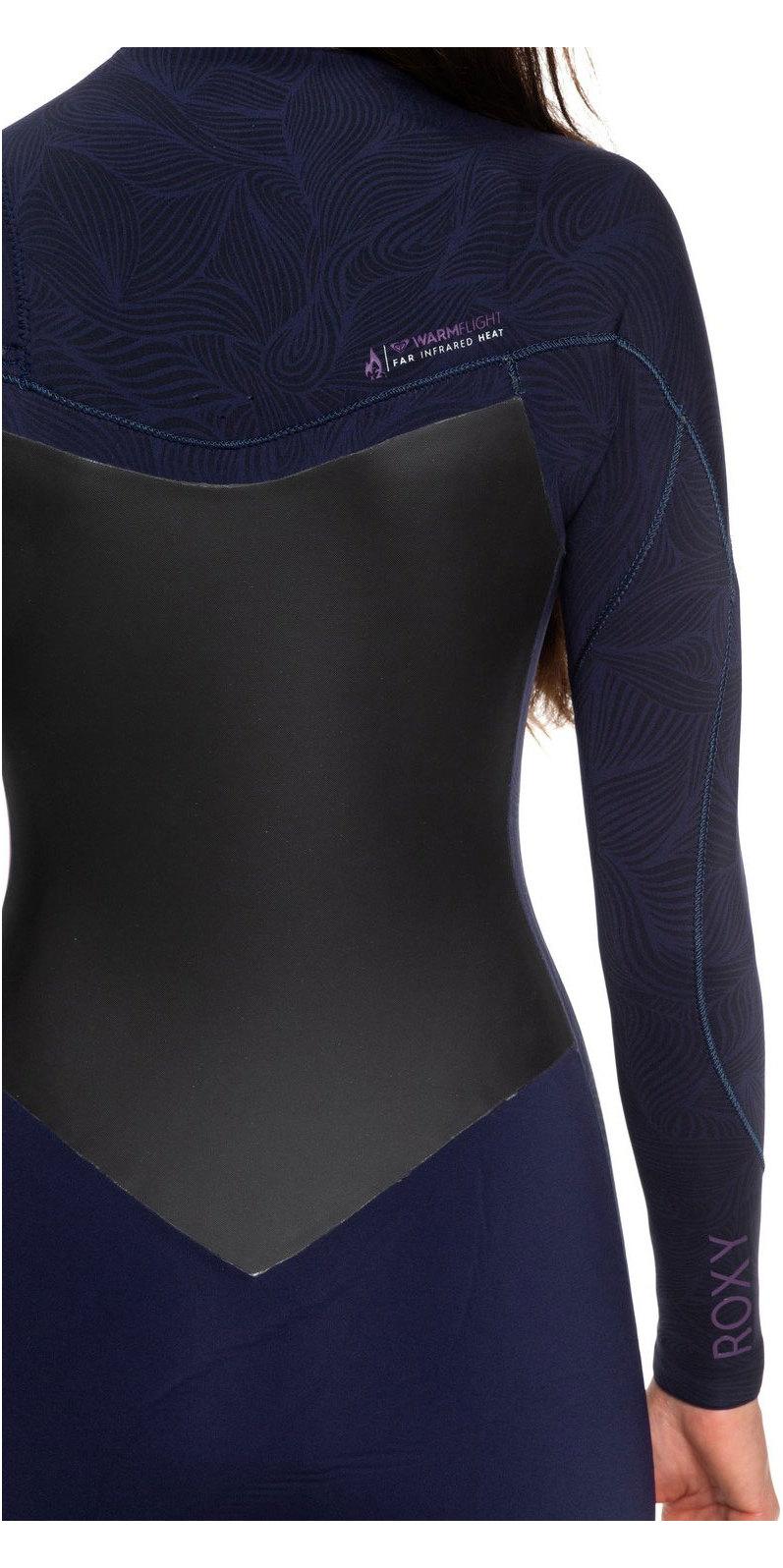 2019 Roxy Womens Performance 3/2mm Chest Zip Wetsuit Deep Indigo / Dark Violet ERJW103031