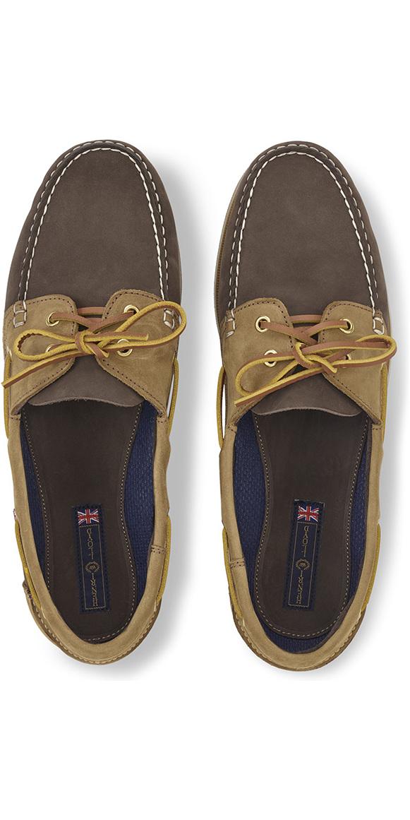 Henri Lloyd Arkansa Deck Shoe Dark Brown / Brown Nubuck / Caramel F94412