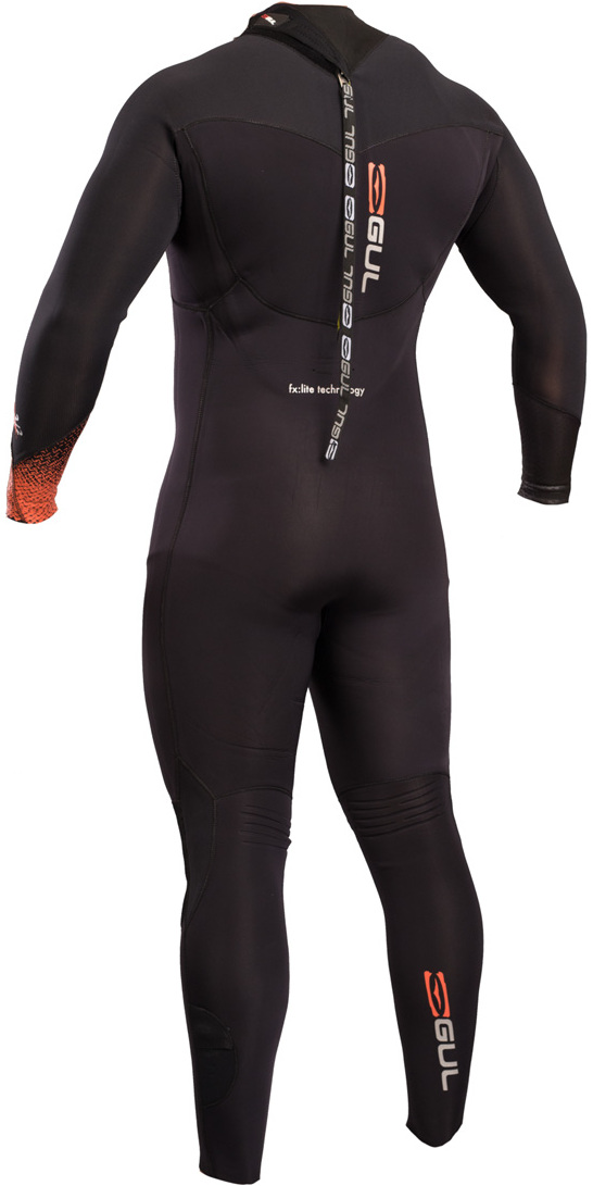 2019 GUL Flexor III 5/4mm Back Zip Wetsuit BLACK FX1209-B5