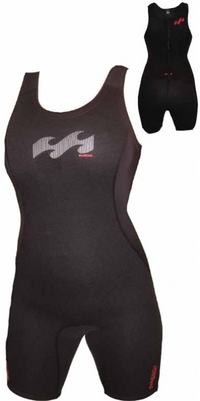 Billabong Synergy 2mm Short JOHN Wetsuit in Black/Pink Detail G42G03