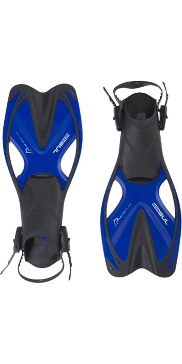 2018 Gul Tarpon JUNIOR Mask / Snorkel & Fin SET in Blue / Black GD0004