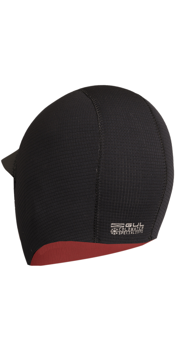 2020 GUL Peaked 3mm Metalite Surf Cap BLACK HO0313-B3