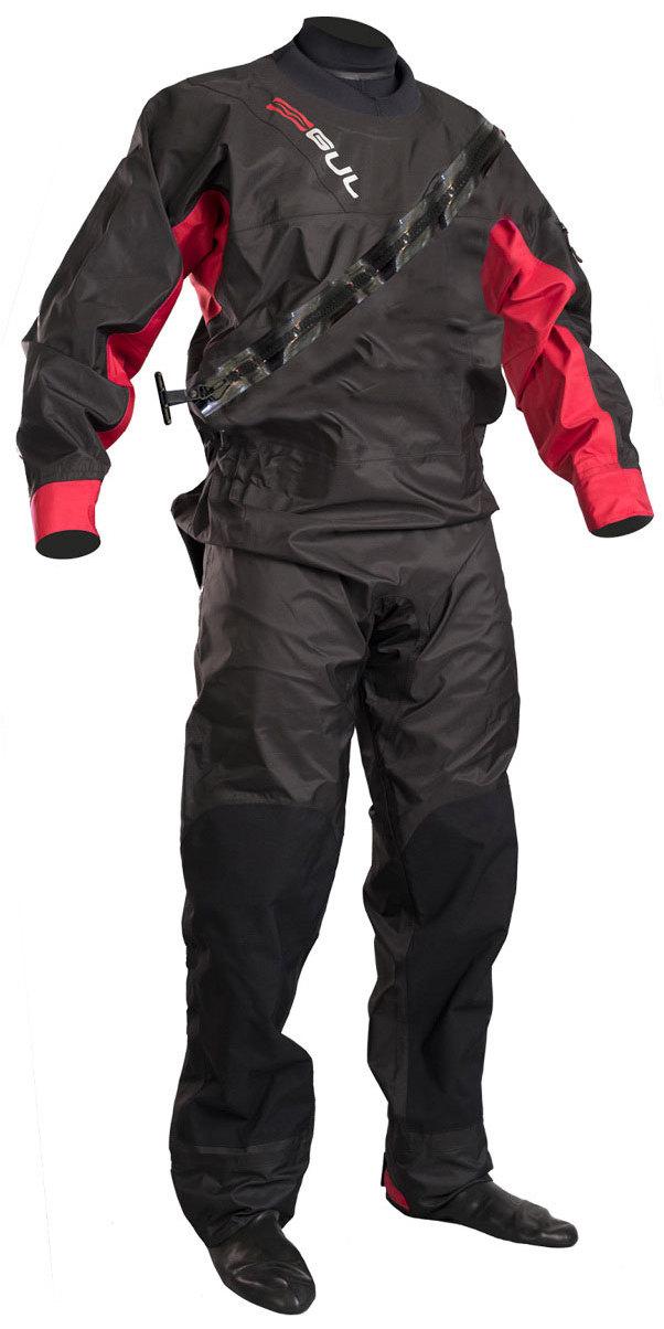 2019 GUL Dartmouth Eclip Zip Drysuit BLACK / RED GM0378-B5