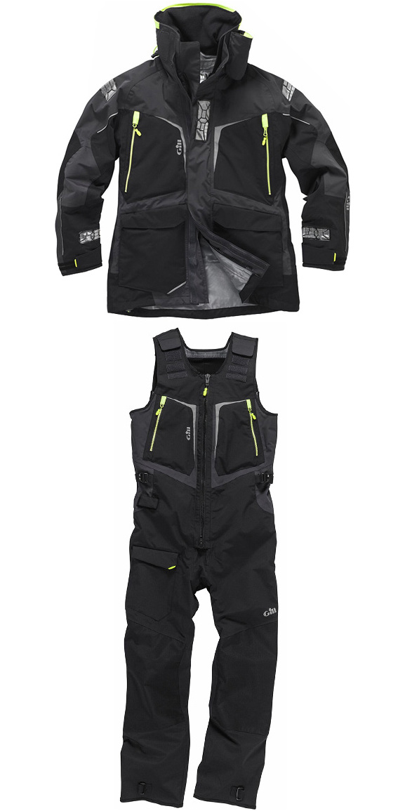 2017 Gill Mens OS1 Offshore Ocean Jacket OS12J & Trouser OS12T Combi Set in Graphite