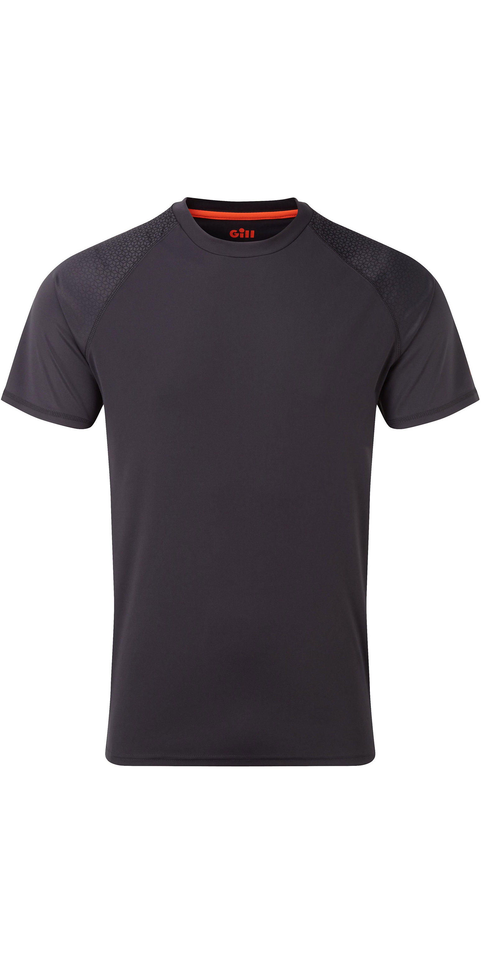 2020 Gill Mens UV Tec Fade Print Tee Charcoal UV015