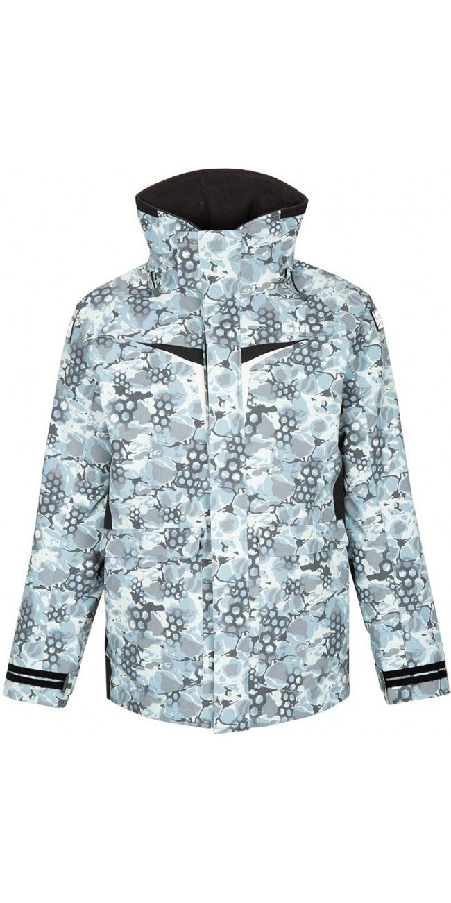 2020 Gill OS3 Mens Coastal Jacket Blue Camo OS31J