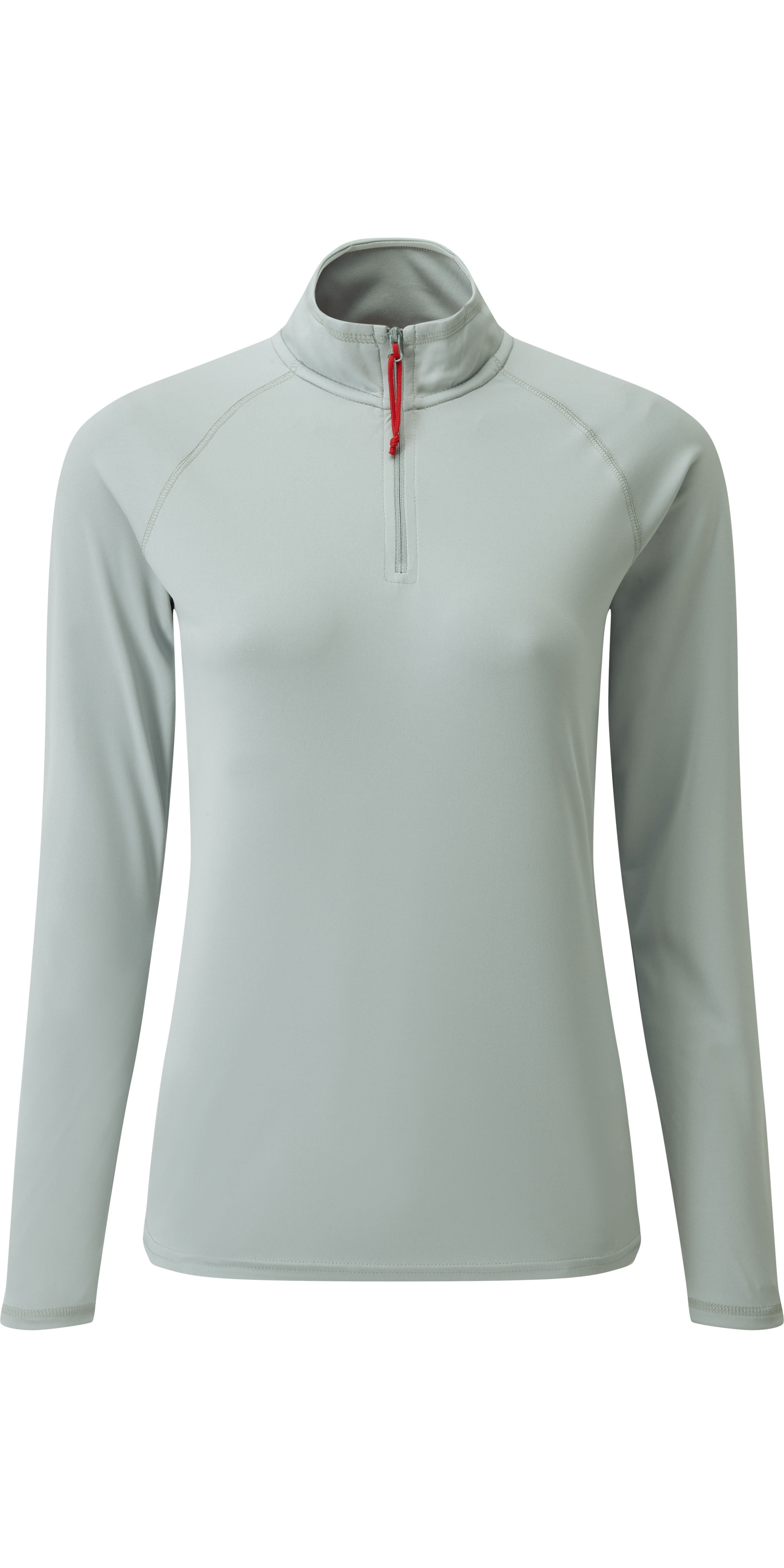 279e20bfe2 2019 Gill Womens Uv Tec Zip Neck Top Grey Uv009w - Sailing Tops & T Shirts  - Shore Wear | Wetsuit Outlet