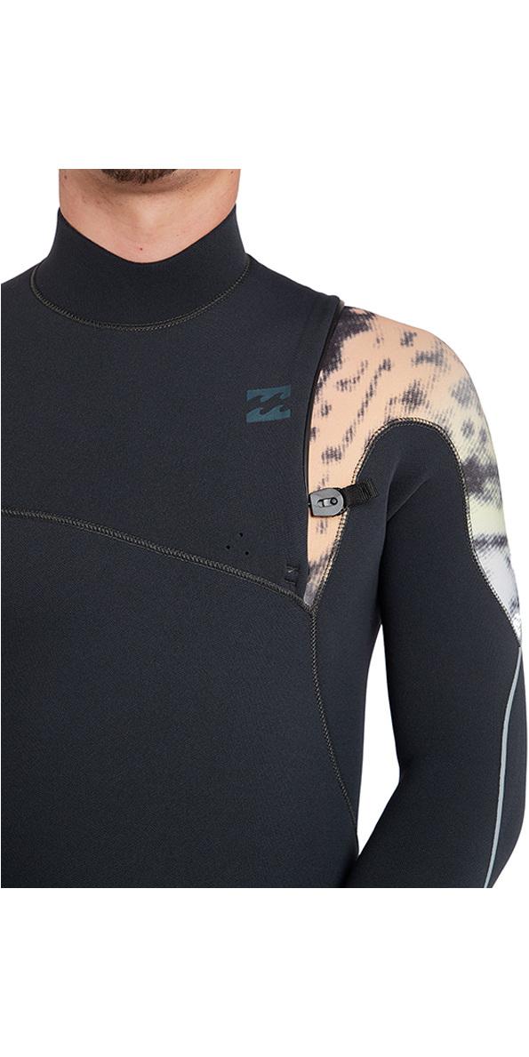 Billabong Furnace Carbon Comp 3/2mm Chest Zip Wetsuit Graphite L43M26