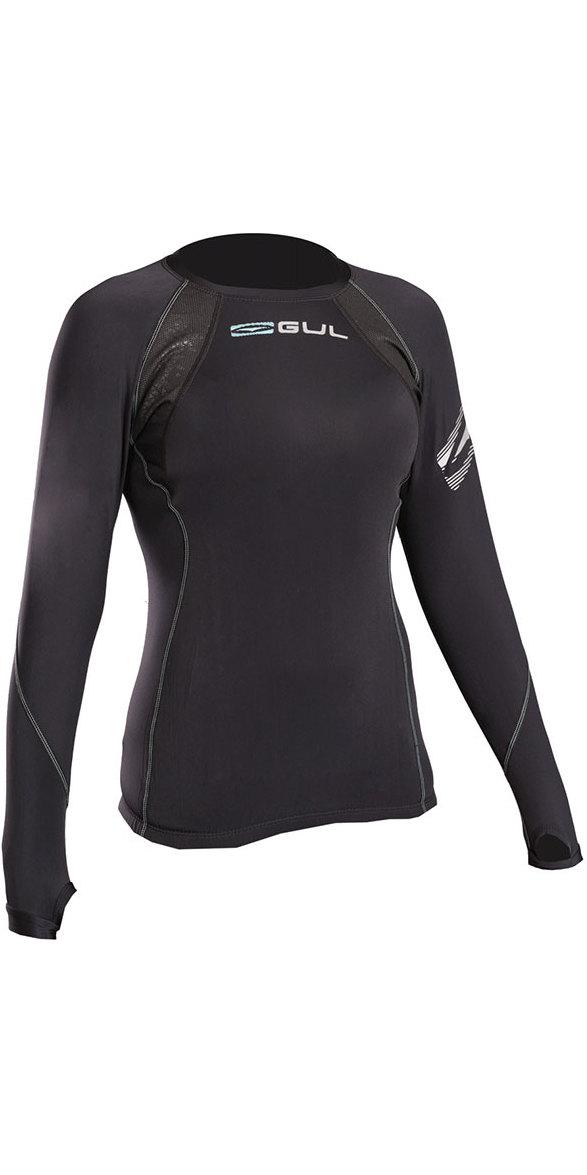 2019 Gul Evolite Womens Flatlock Thermal Long Sleeve Top Black EV0120-B2