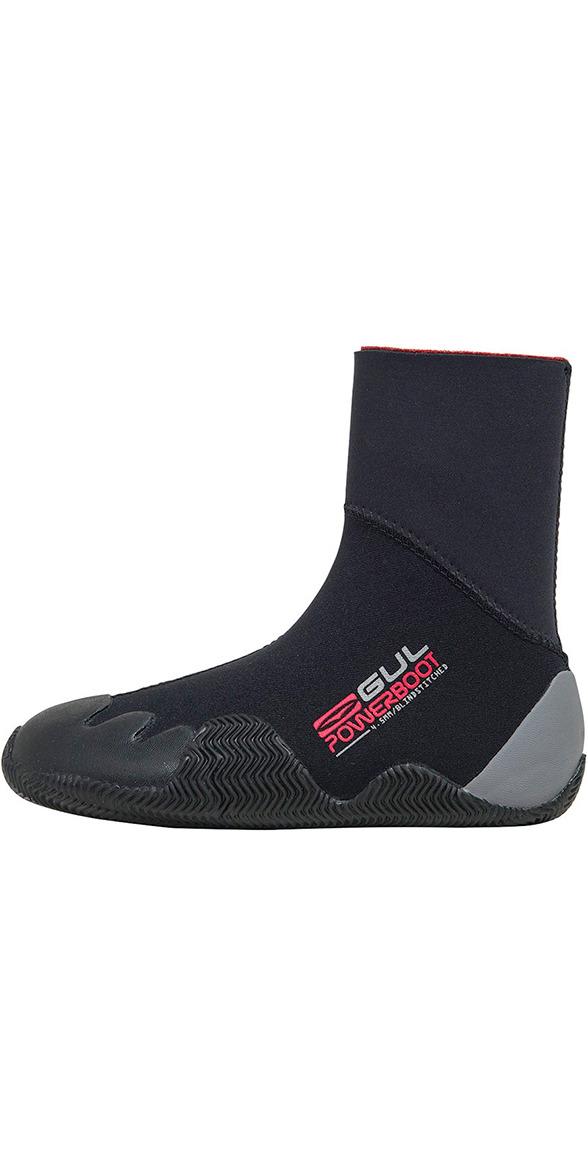 2019 Gul Junior Power 5mm Wetsuit Boot Black / Grey BO1264 A8