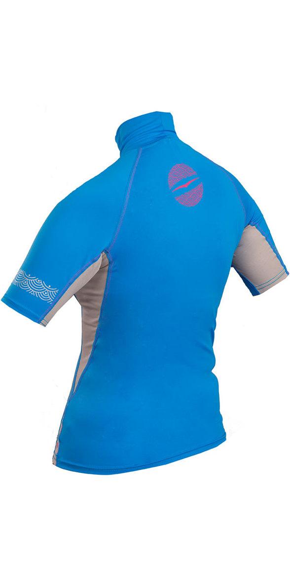 2018 Gul Womens Swami Short Sleeve Rash Vest Blue / Silver RG0330-B4