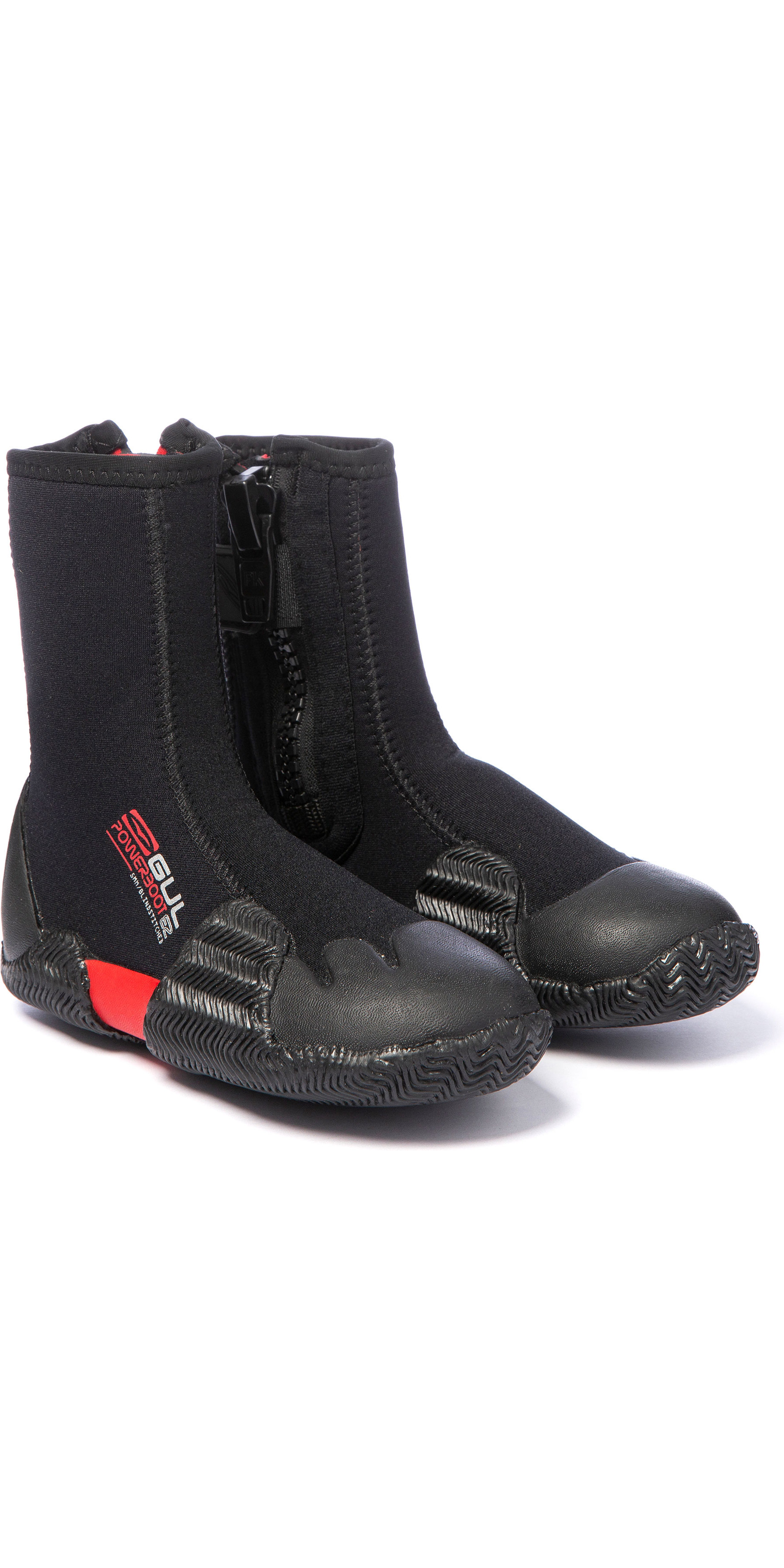 2019 Gul Power 5mm Round Toe Zipped Boots BO1306-B2 - Black