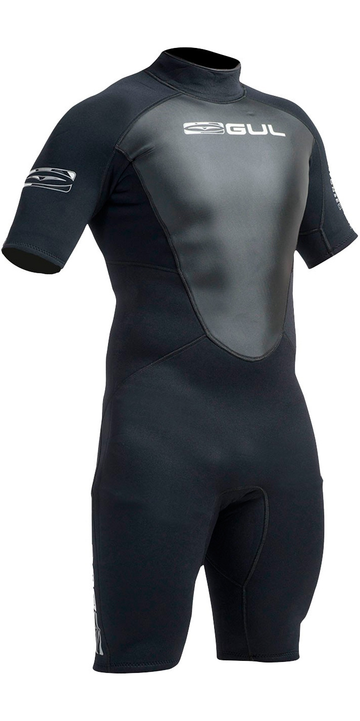 Gul Response 3/2mm Mens Shorty Wetsuit Black RE3319-A9
