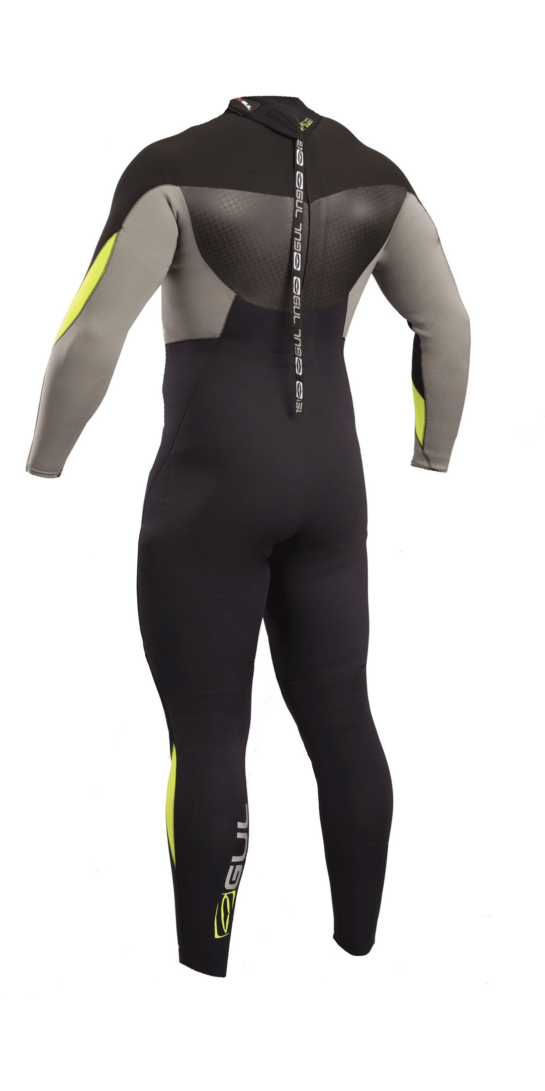 2020 Gul Response 3/2mm Back Zip GBS Wetsuit Black / Lime RE1231-B4