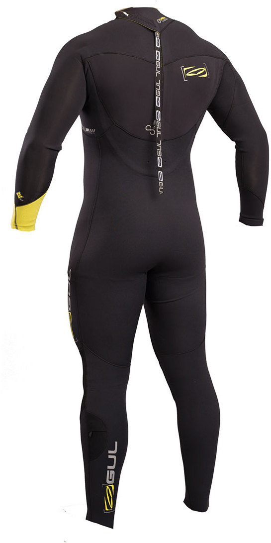 2019 Gul Response FX 3/2mm GBS Back Zip Wetsuit BLACK / LIME RE1263-B4