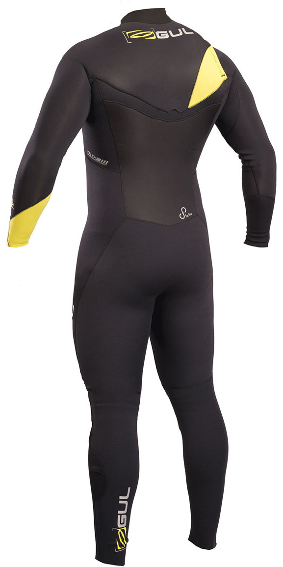 2019 Gul Response FX 3/2mm GBS Chest Zip Wetsuit BLACK / LIME RE1240-B4