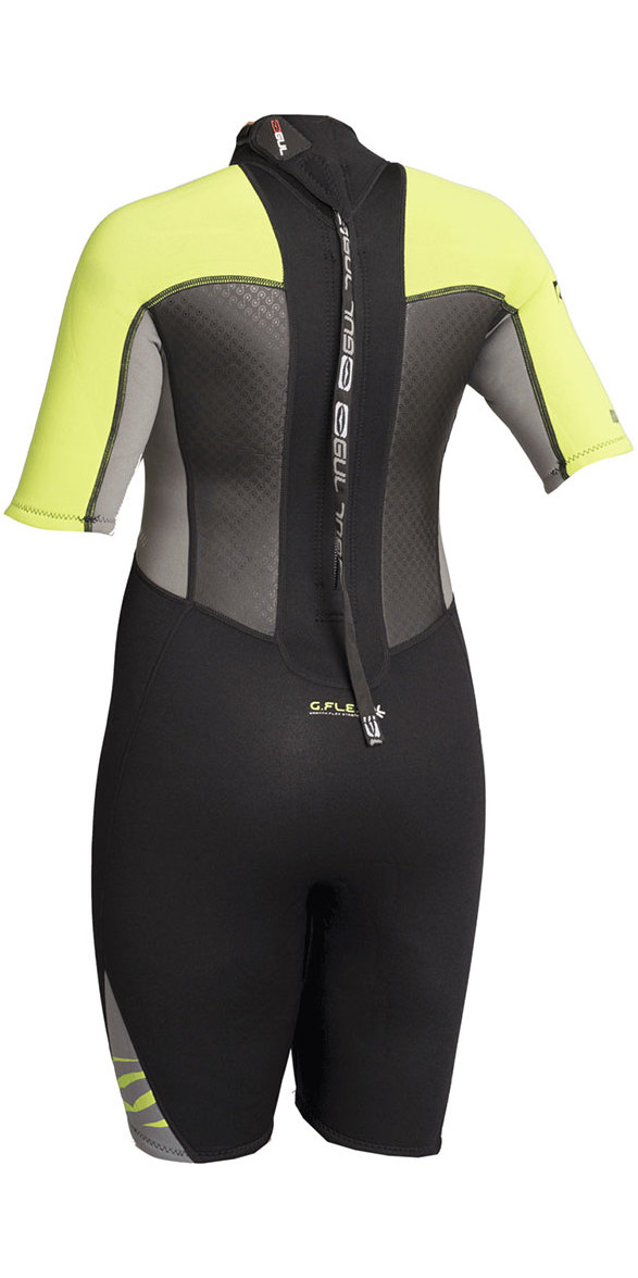 2019 Gul Response Junior 3/2mm Shorty Wetsuit Black / Lime RE3322-B4