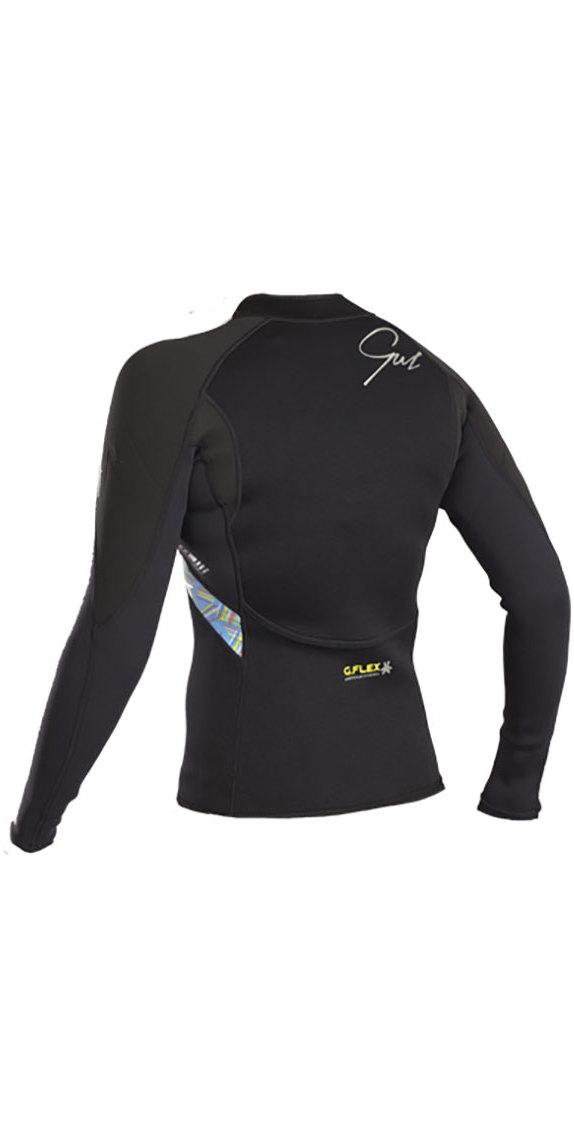 2019 Gul Response Womens 3mm Bolero Wetsuit Jacket Black / Lines RE6305-B4