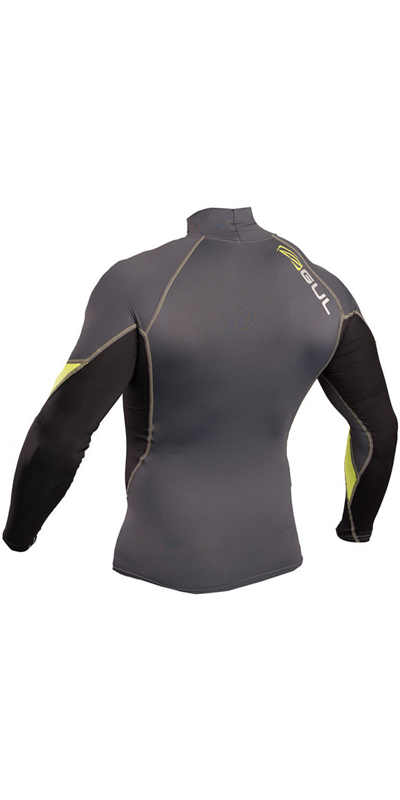 2019 Gul Xola Long Sleeve Rash Vest Graphite / Lime RG0339-B4