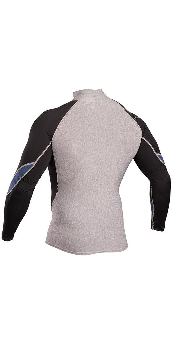 2019 Gul Xola Long Sleeve Rash Vest Marl / Black RG0339-B4