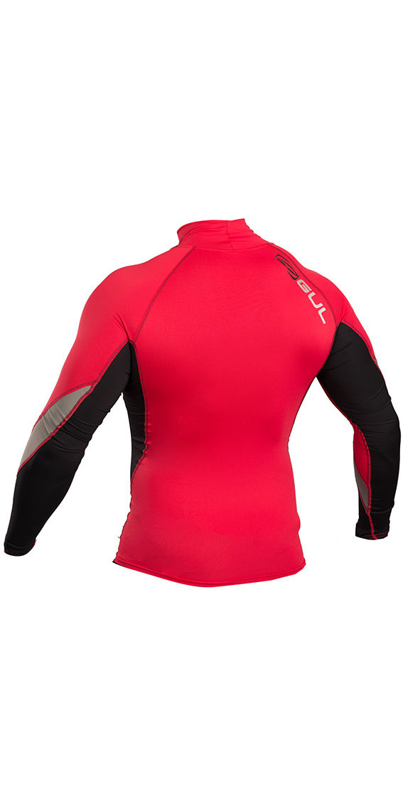 2019 Gul Xola Long Sleeve Rash Vest Red / Black RG0339-B4