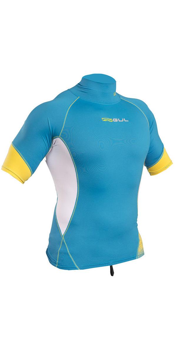 2019 Gul Xola Short Sleeve Rash Vest Crip / White RG0338-B4