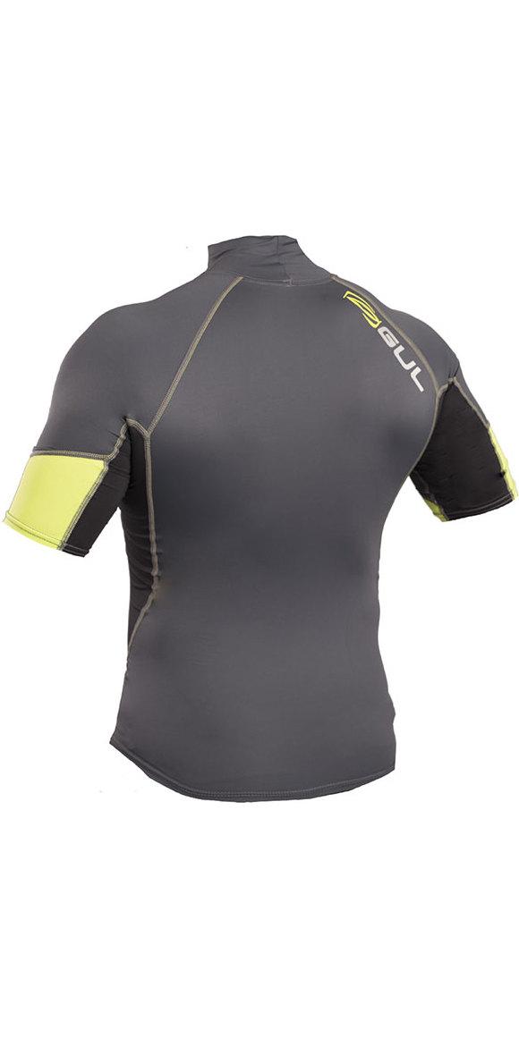 2019 Gul Xola Short Sleeve Rash Vest Graphite / Lime RG0338-B4