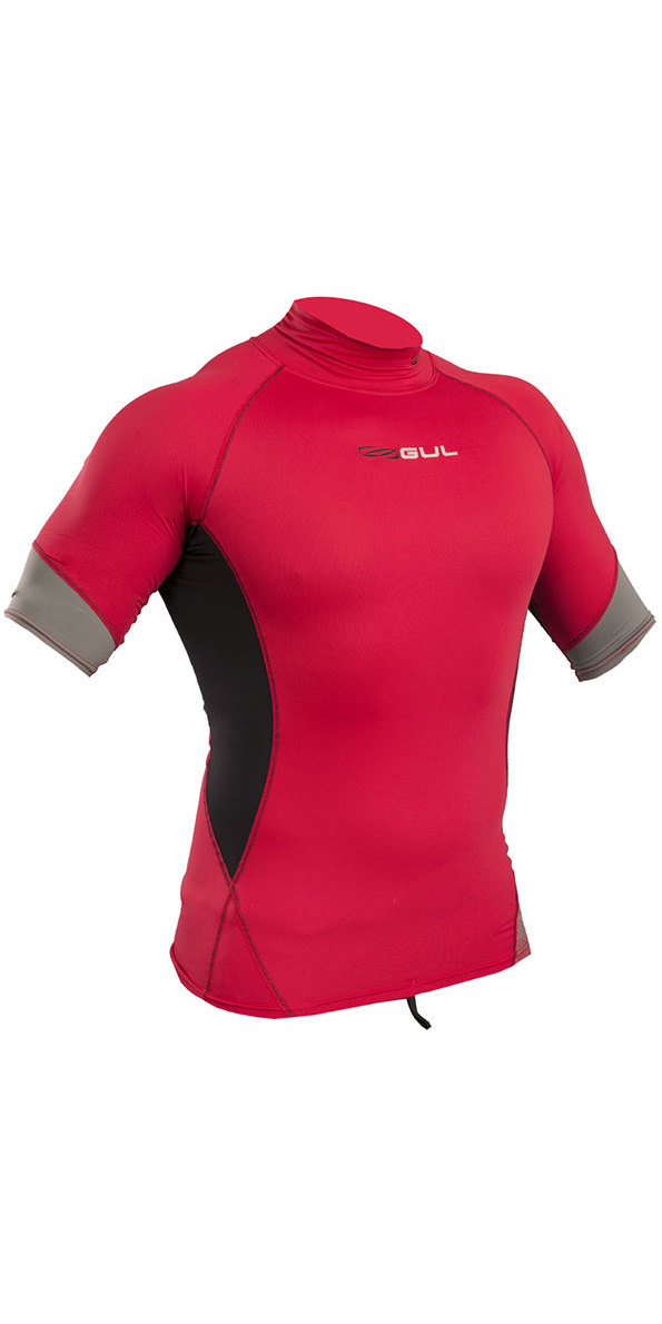 2019 Gul Xola Short Sleeve Rash Vest Red / Black RG0338-B4