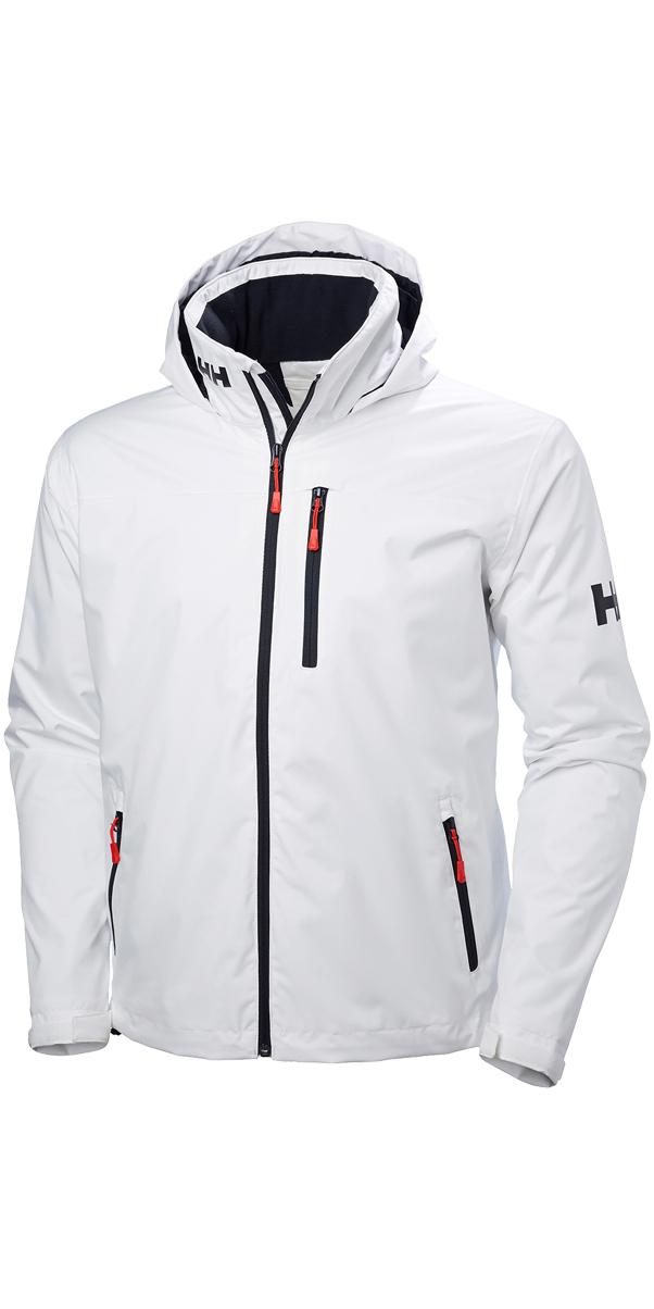 super popular 47b5b f56c9 2019 Helly Hansen Hooded Crew Mid Layer Jacket WHITE 33874