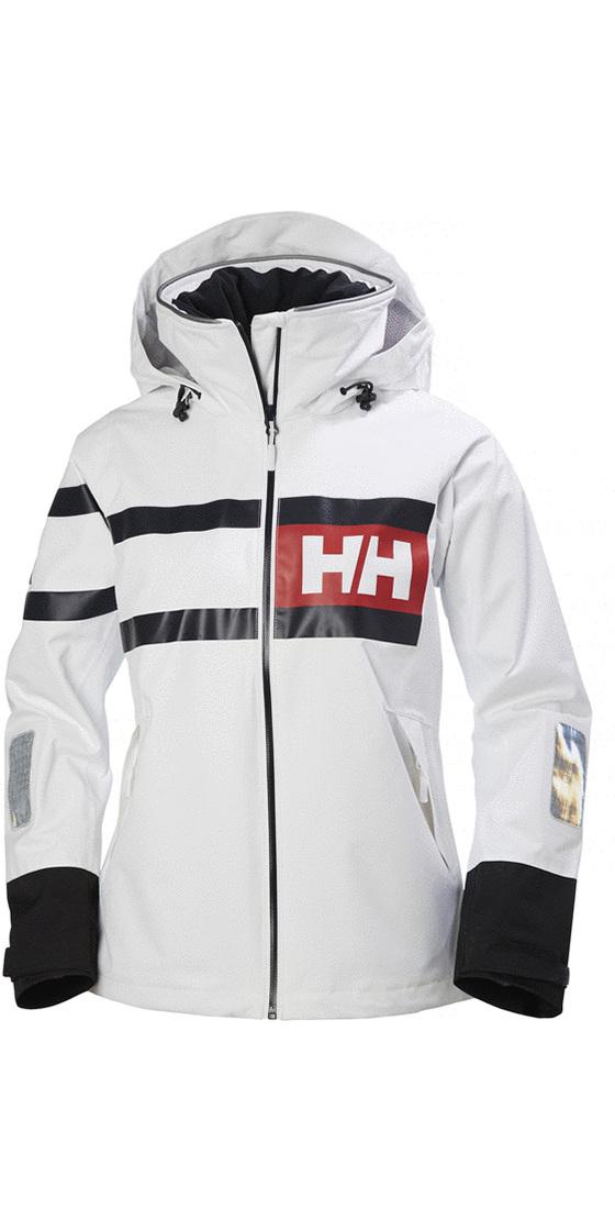 hyvämaineinen sivusto voittamaton x hyvä laatu 2019 Helly Hansen Womens Salt Power Jacket White / Black 36279