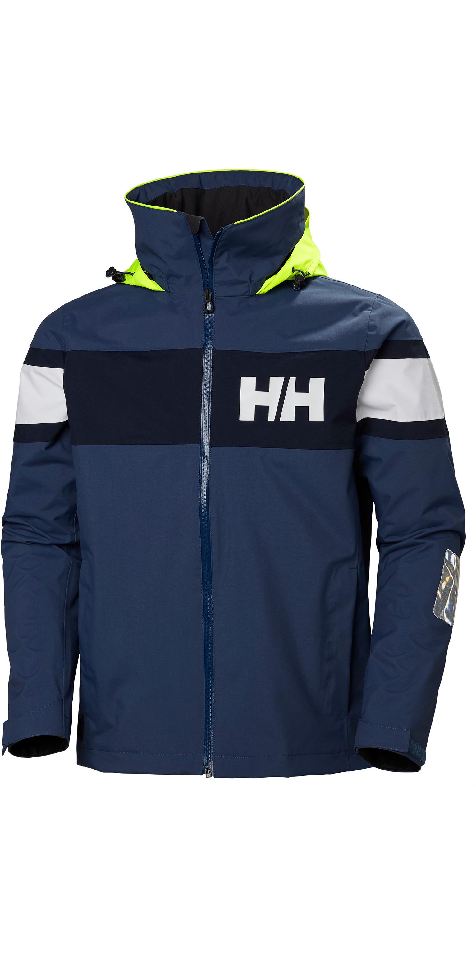 2019 Helly Hansen Mens Salt Flag Jacket Graphite Blue 33909