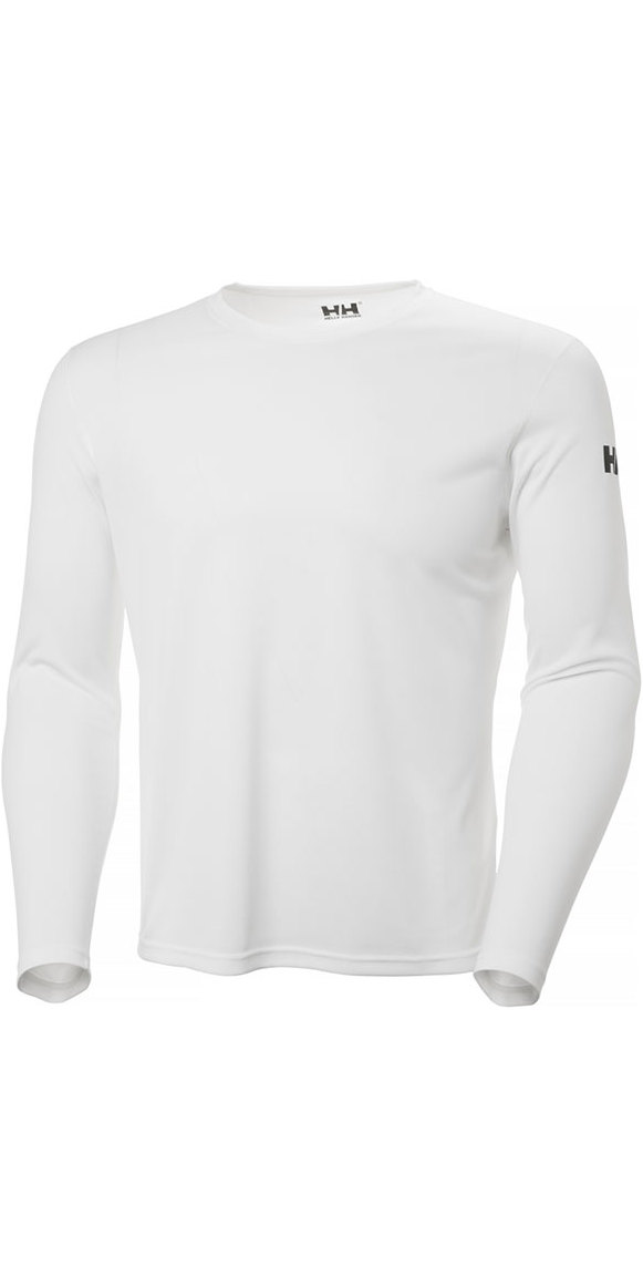 2019 Helly Hansen Tech Crew Long Sleeve Base Layer White 48364