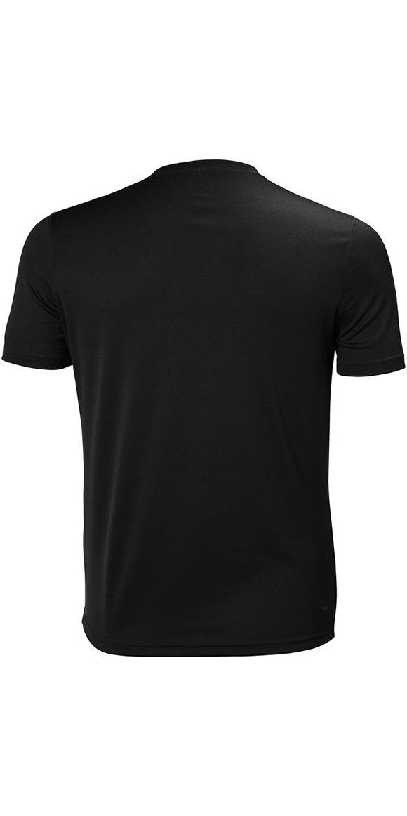 2019 Helly Hansen Tech T Short Sleeve Base Layer Ebony 48363