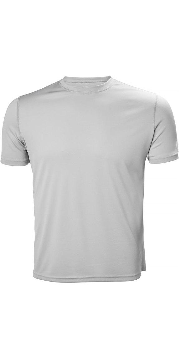 2019 Helly Hansen Tech T Short Sleeve Base Layer Light Grey 48363
