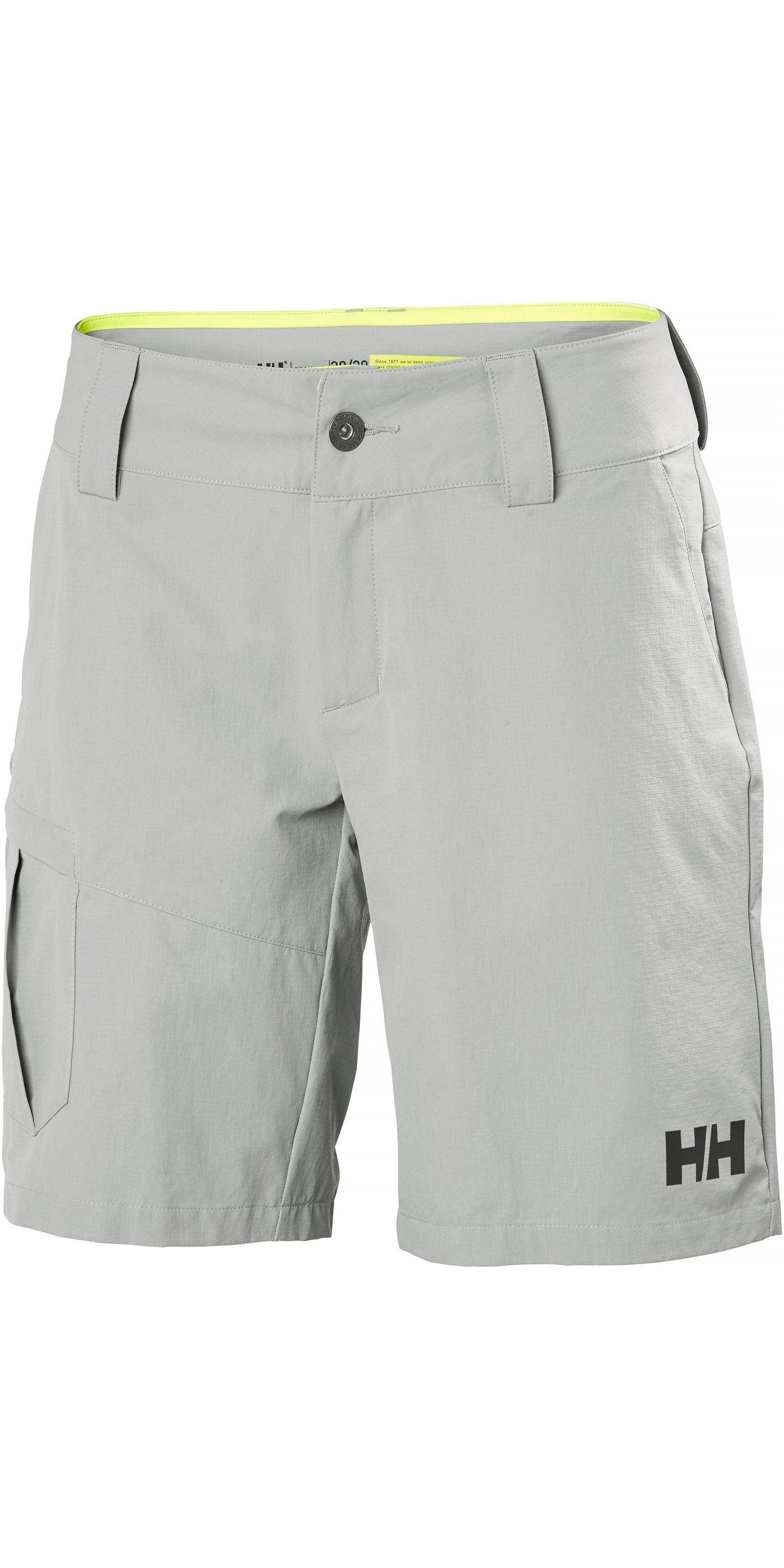 op voorraad uitchecken geweldige aanbiedingen 2019 Helly Hansen Womens QD Cargo Shorts Grey Fog 33942