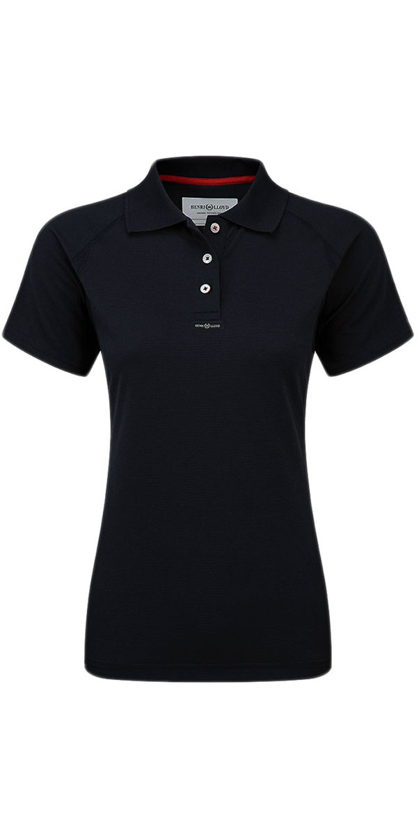 Henri Lloyd Womens Fast Dry Polo T-Shirt in Black Y30279