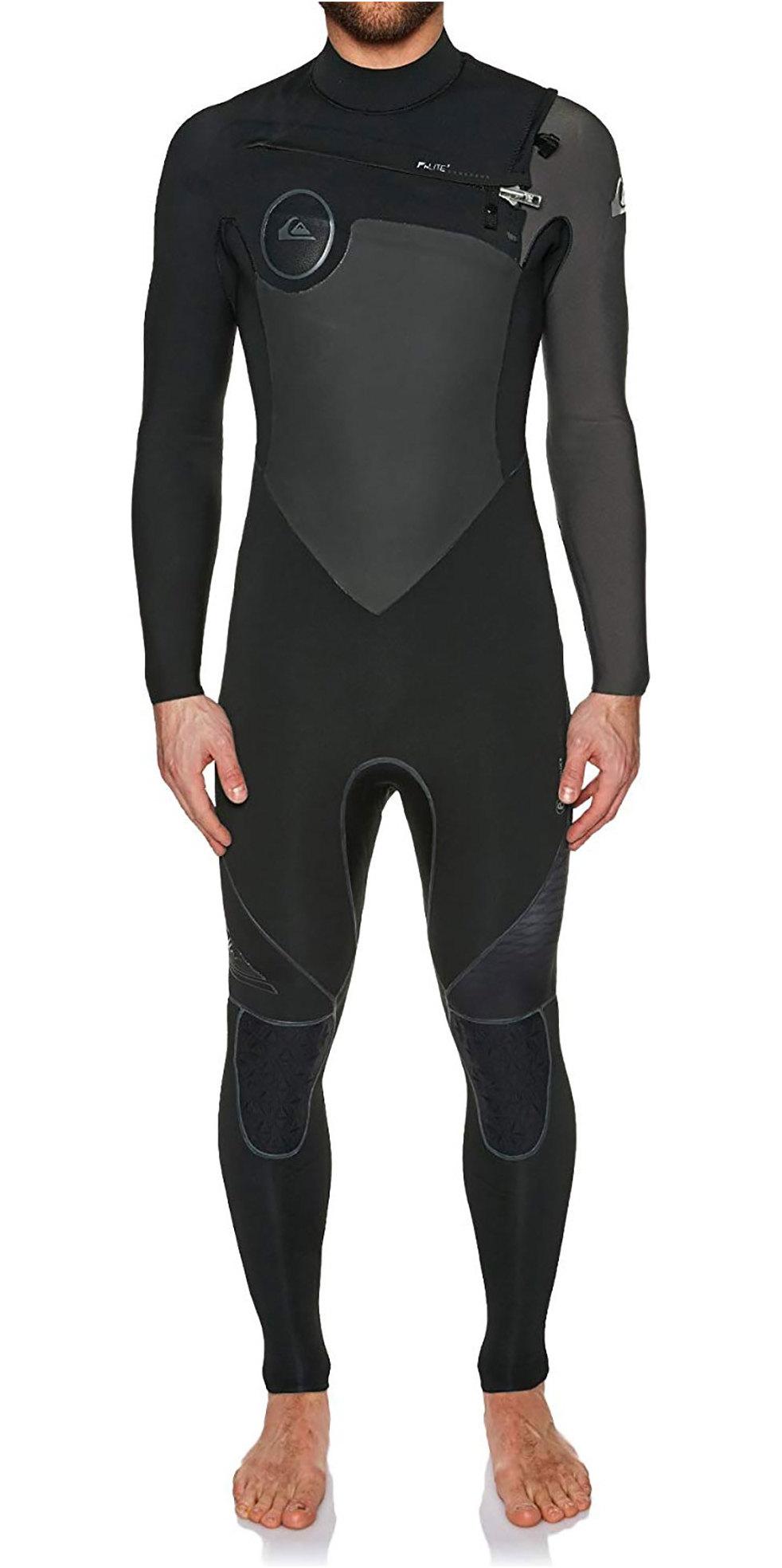 Quiksilver Highline Plus 3/2mm Chest Zip Wetsuit JET BLACK EQYW103049