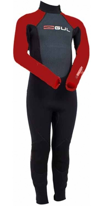 Gul Response 3/2mm Steamer BOYS Wetsuit RE1316 RED