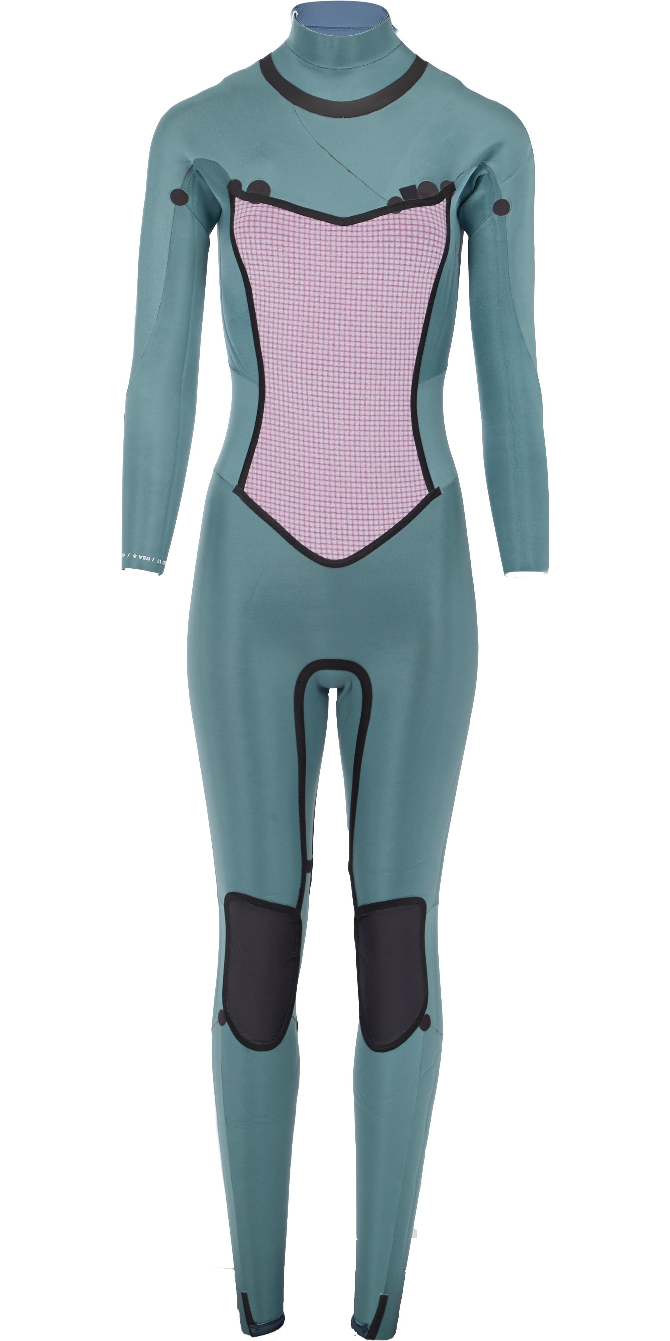 Billabong Womens Furnace Synergy 5/4mm Chest Zip Wetsuit Black L45G03