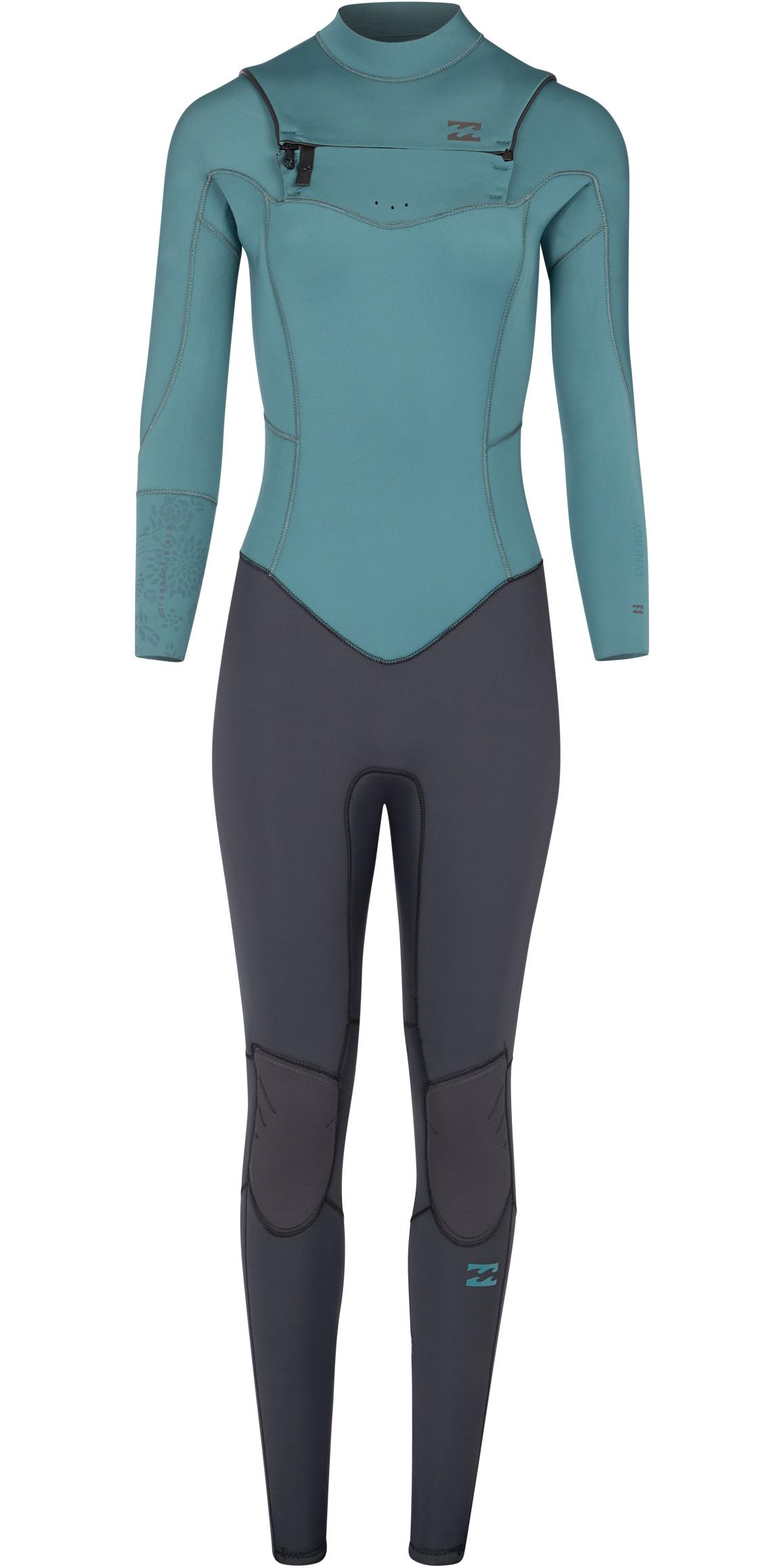 2019 Billabong Womens Furnace Synergy 5/4mm Chest Zip Wetsuit Sugar Pine L45G03