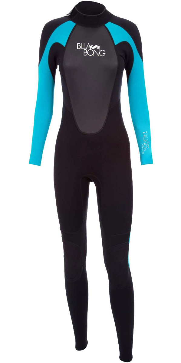 2018 Billabong Ladies Launch 5/4/3mm GBS Wetsuit Black / Turquoise O45G01/G45G05