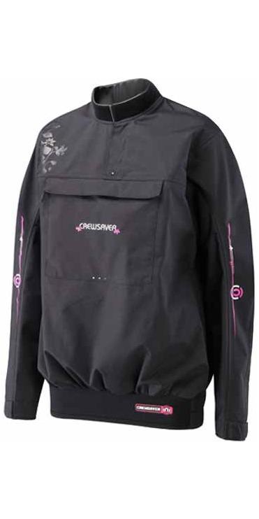 Crewsaver Ladies Effect Spray Top in Black/Magenta 6675