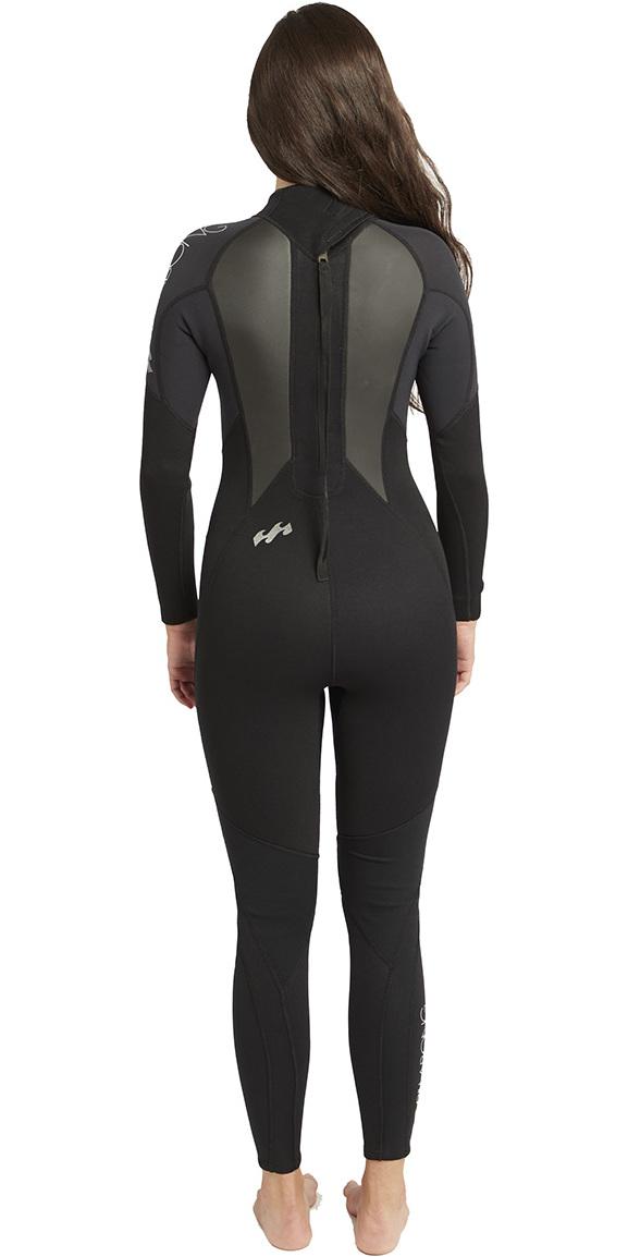 2019 Billabong Womens Launch 4/3mm GBS Wetsuit Black 044G01