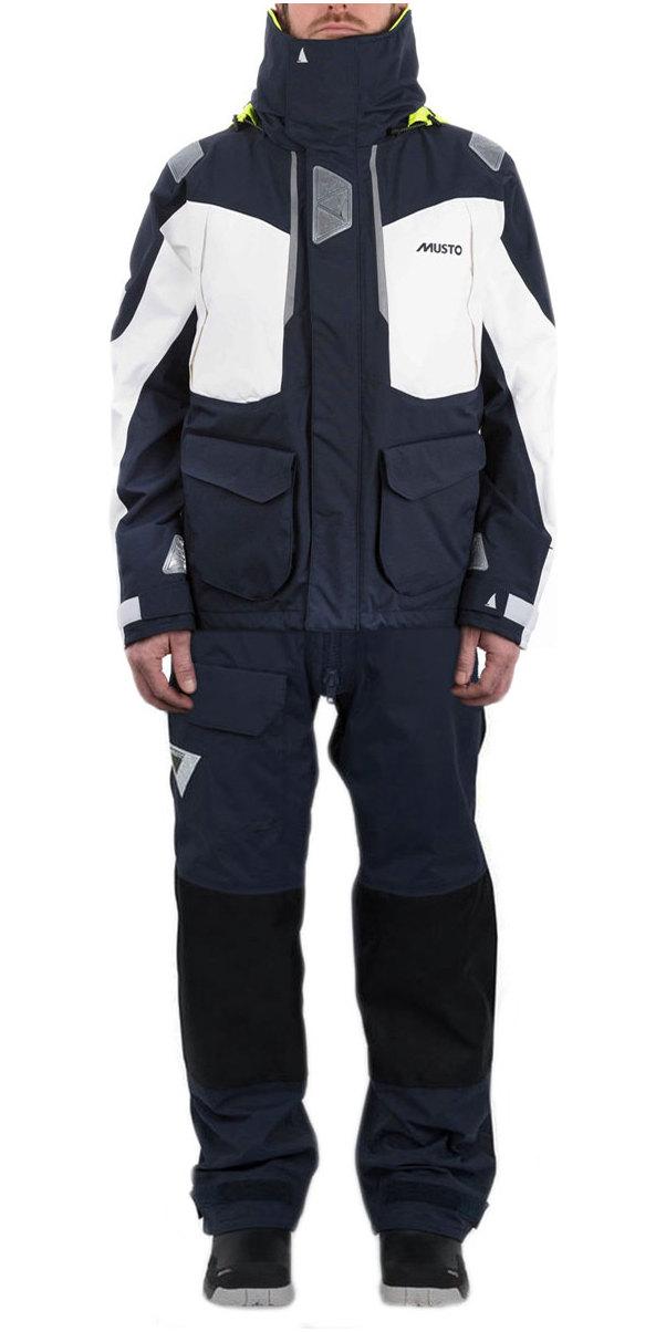 Musto BR2 Offshore Jacket SMJK052 & Trouser SB0042 Combi Set Navy / White