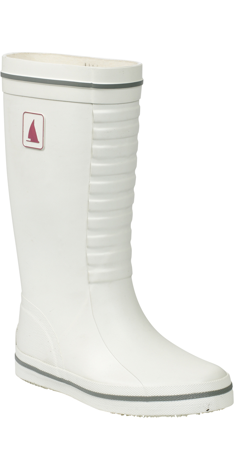 5d9954136162d Musto Womens Junior Classic Deck Boot in White Fs0710 - Sailing Boots -  Sailing Boots Shoes