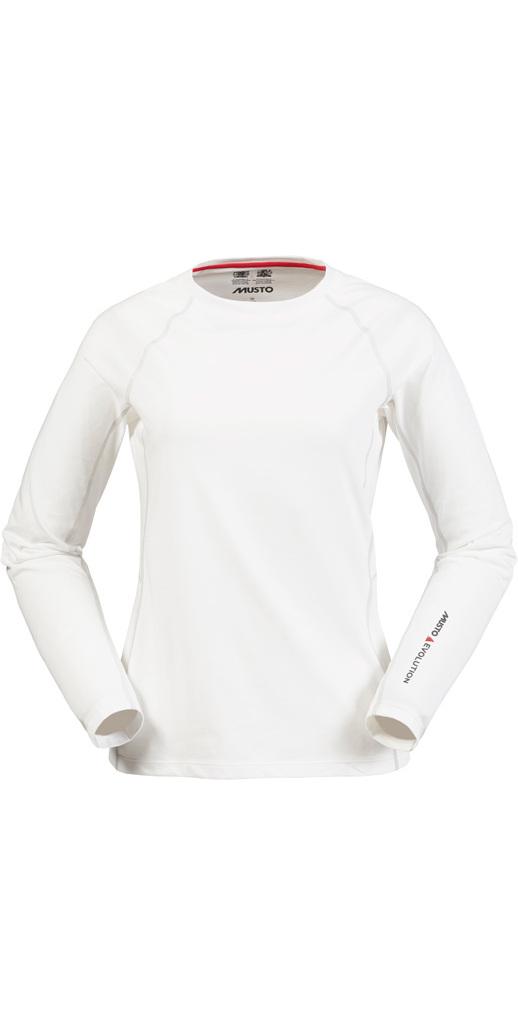 Musto Evolution Ladies Sunblock Long Sleeve Tee White