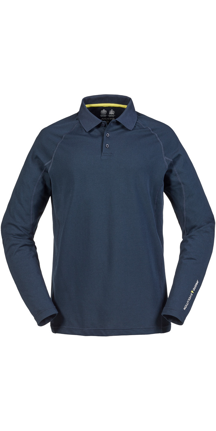 8f0ba4b2dd Musto Evolution Sunblock Long Sleeve Polo Top True Navy Se0254 - Polo Shirts  - Shore Wear - | Wetsuit Outlet
