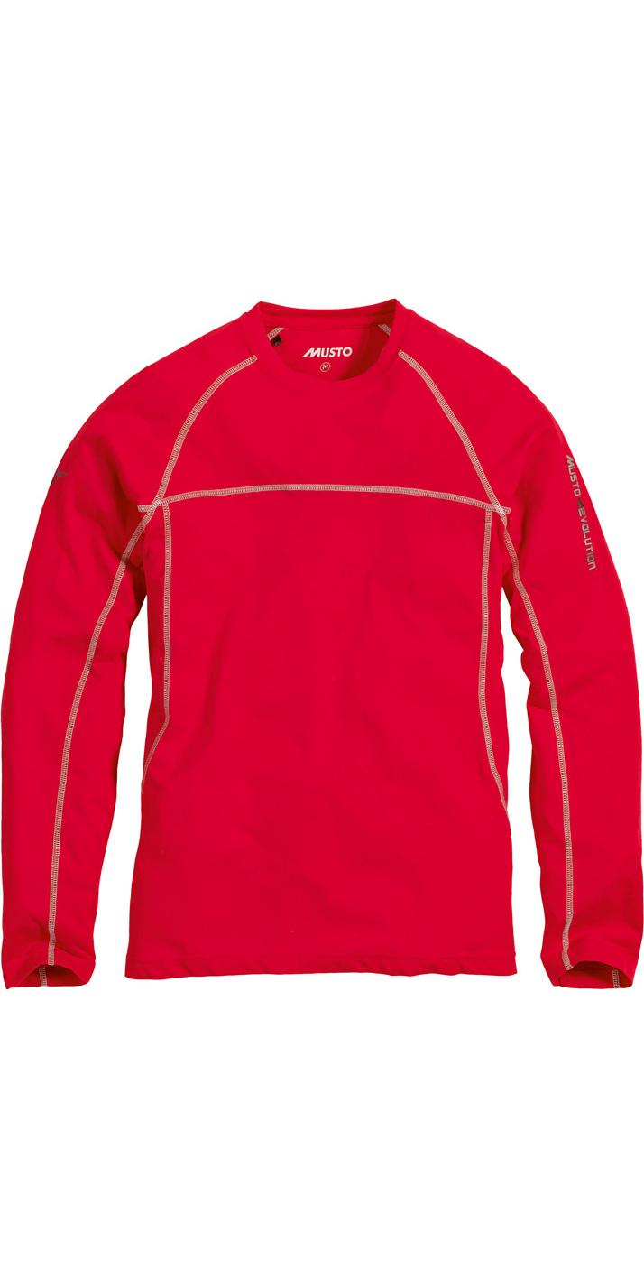 Musto Evolution Sunblock Long Sleeve T Shirt Summer Red