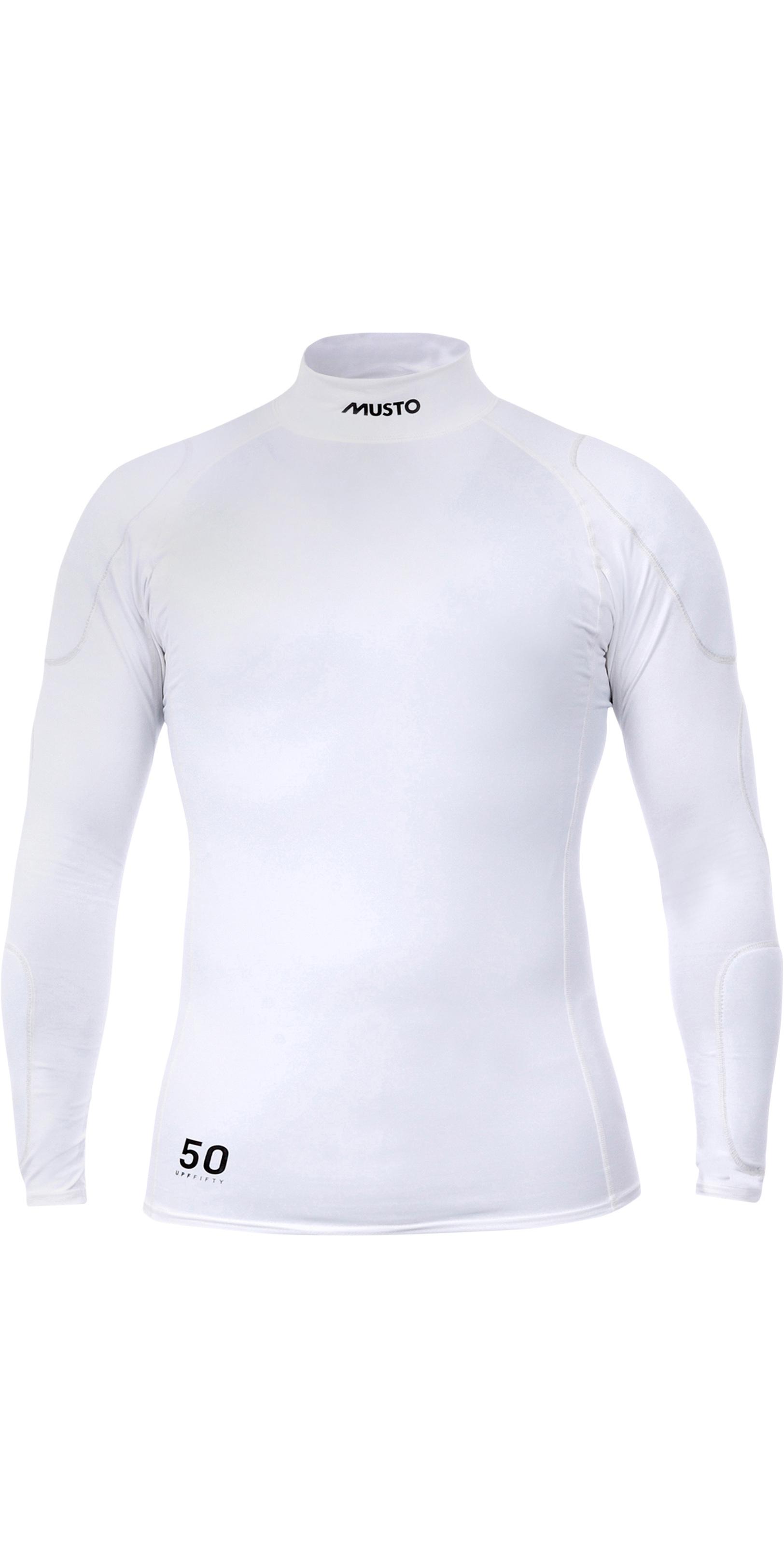 2019 Musto Mens Foiling Sunblock Impact Top White SMTS014